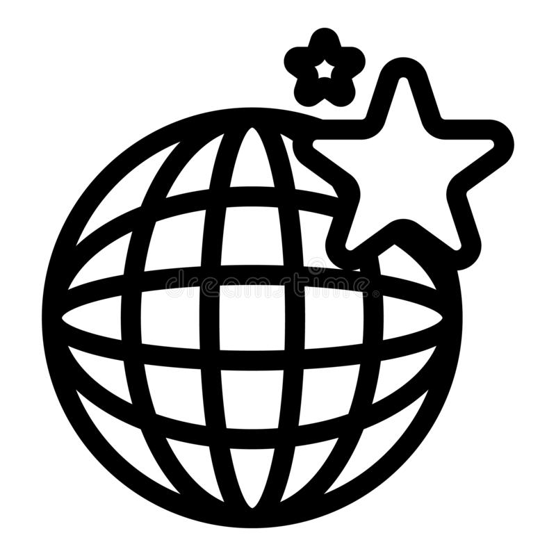 Icona globale del centro commerciale, stile del profilo royalty illustrazione gratis