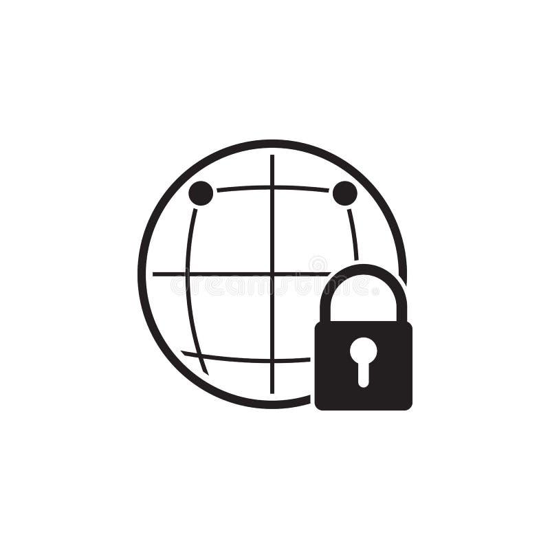 icona globale di protezione Elementi dell'icona cyber di sicurezza Progettazione grafica di qualità premio Segni ed icona della r illustrazione di stock