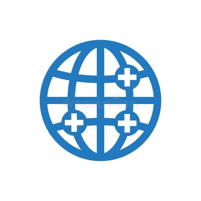 Icona globale di sanità royalty illustrazione gratis