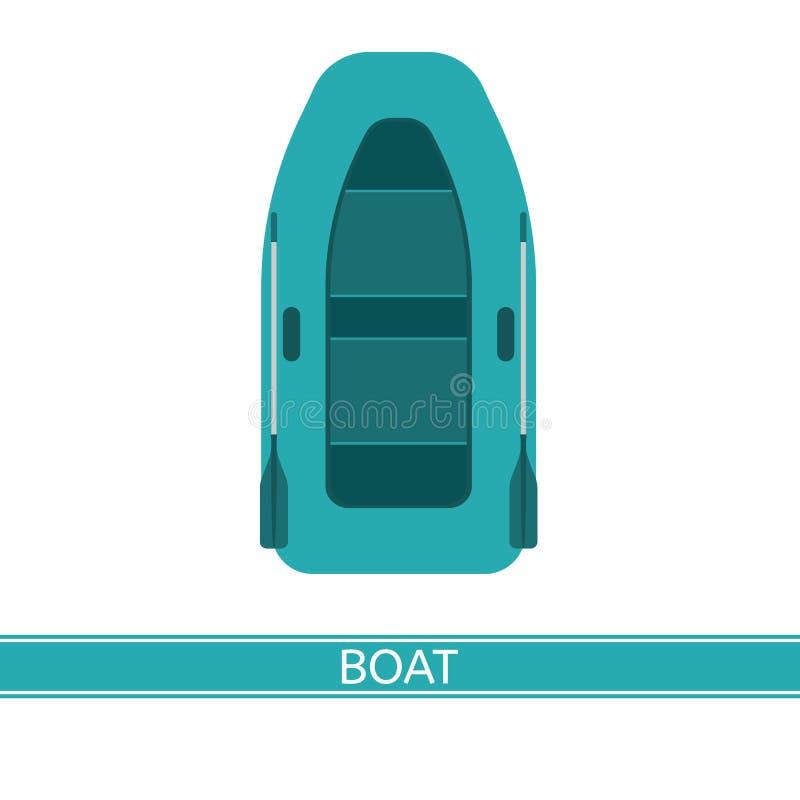Icona gonfiabile della barca illustrazione vettoriale
