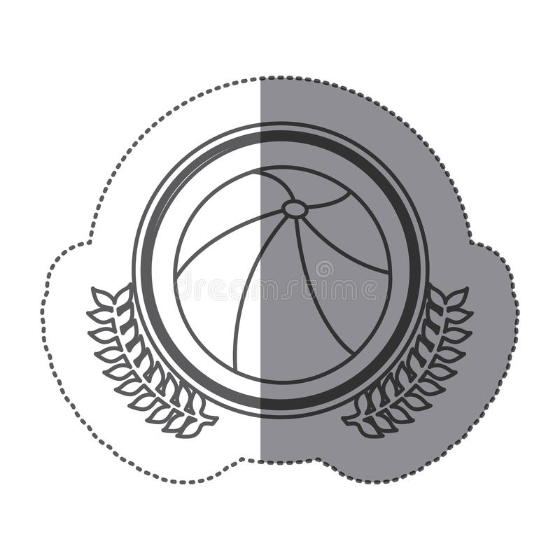icona gonfiabile della palla di simbolo royalty illustrazione gratis