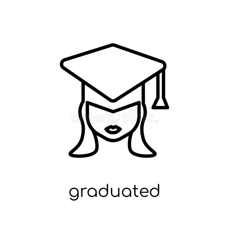 Icona graduata Icona graduata di vettore lineare piano moderno d'avanguardia illustrazione vettoriale