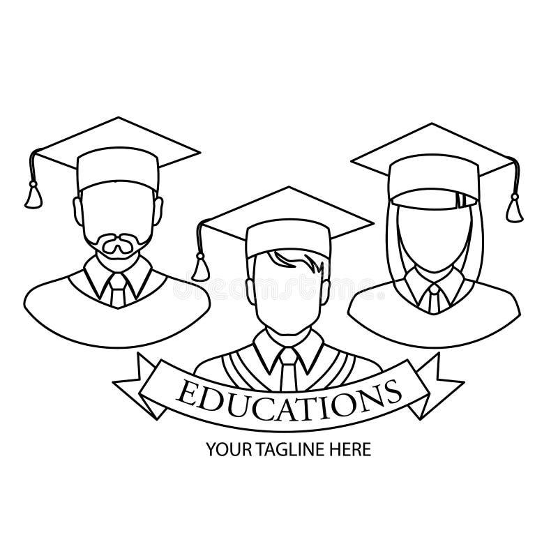 Icona graduata Progettazione lineare graduata di simbolo dalla raccolta della gente Illustrazione semplice di vettore dell'elemen royalty illustrazione gratis