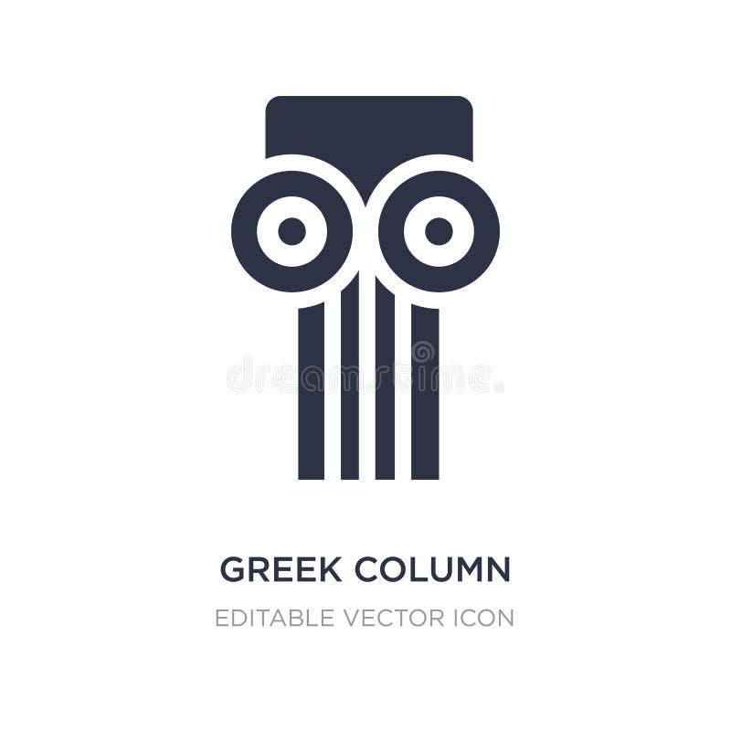 icona greca della colonna su fondo bianco Illustrazione semplice dell'elemento dal concetto dei monumenti illustrazione vettoriale