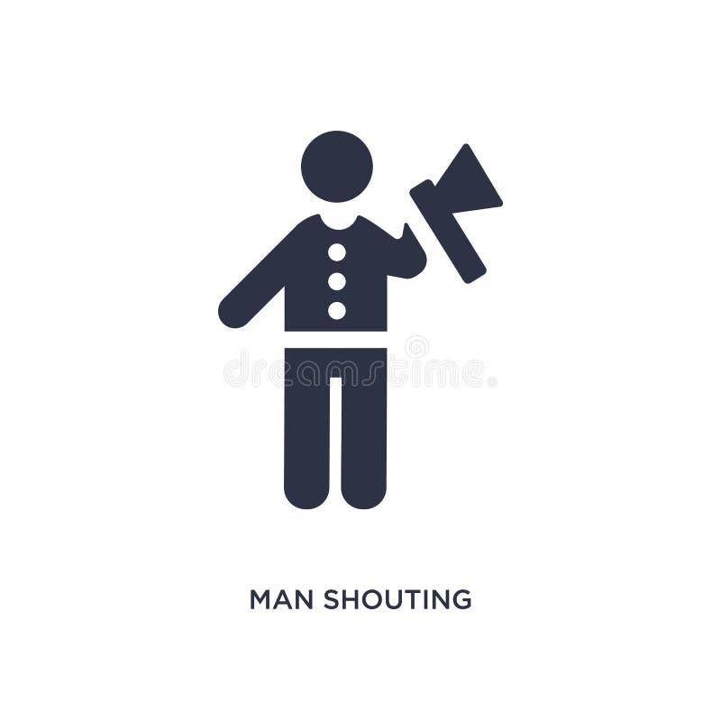 icona gridante dell'uomo su fondo bianco Illustrazione semplice dell'elemento dal concetto di comportamento royalty illustrazione gratis
