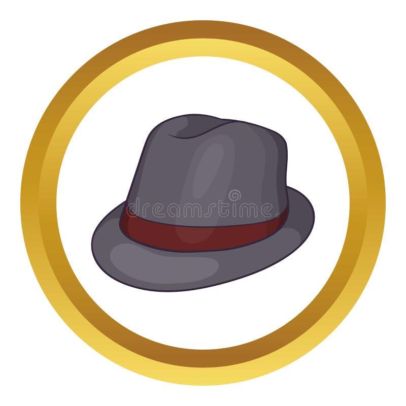 Icona grigia del cappello illustrazione di stock