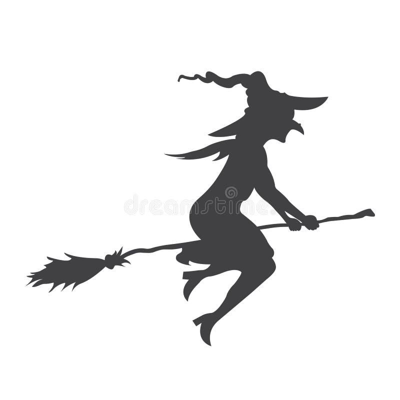 Icona, Halloween e spaventoso di glifo della strega di Halloween royalty illustrazione gratis