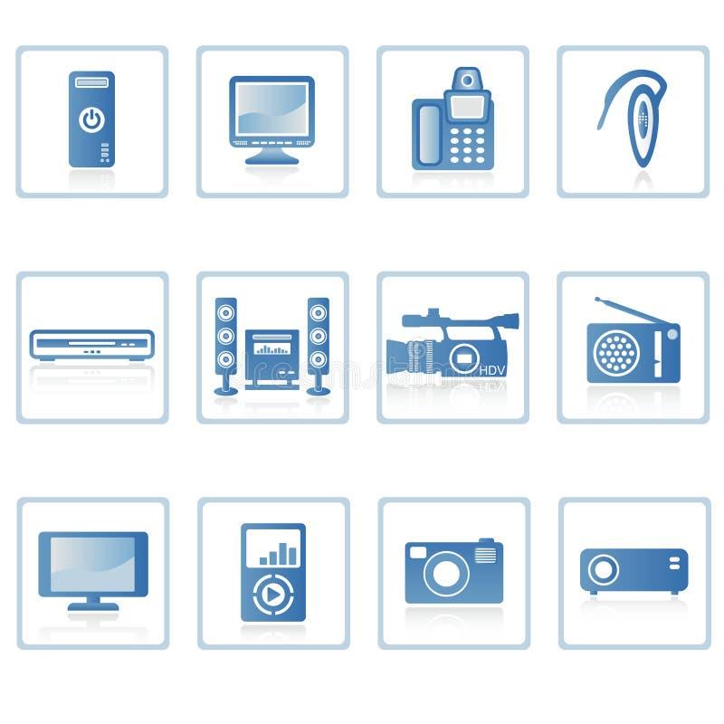 Icona II di elettronica illustrazione di stock