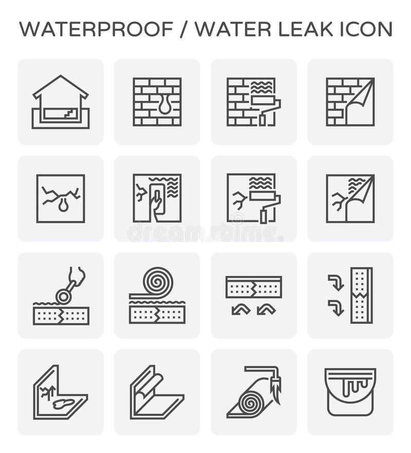 Icona impermeabile della perdita dell'acqua illustrazione vettoriale