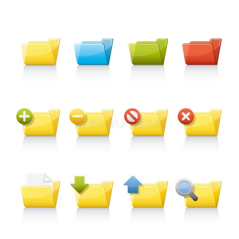 Icona impostata - dispositivi di piegatura di applicazione illustrazione di stock