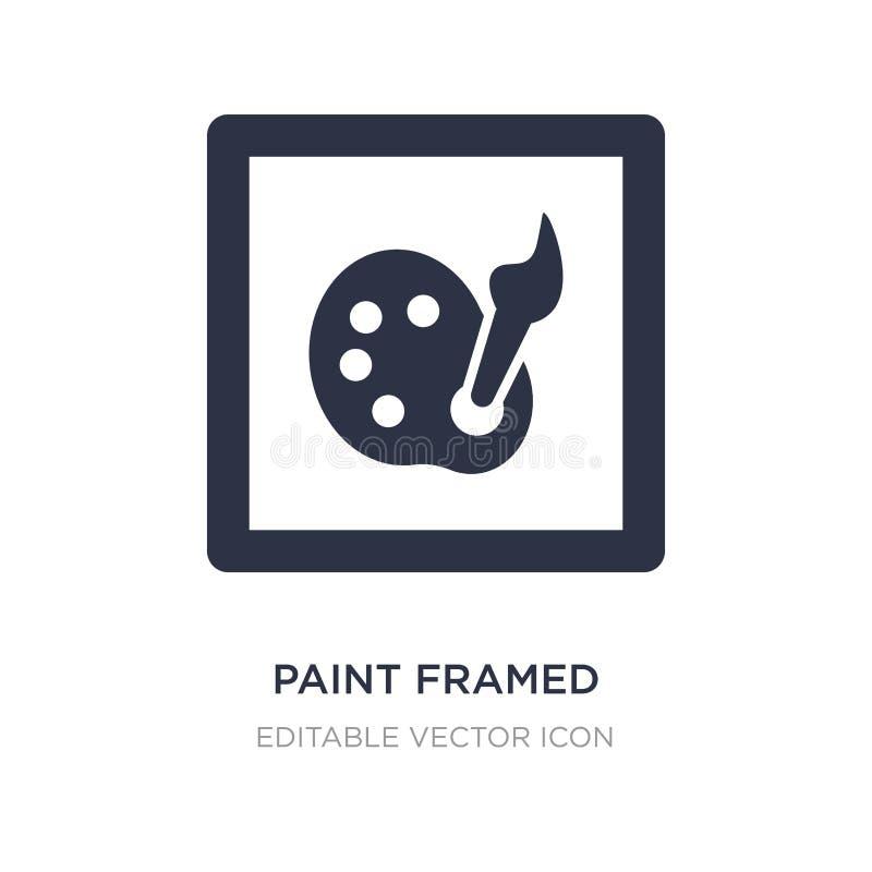 icona incorniciata pittura su fondo bianco Illustrazione semplice dell'elemento dal concetto di progetto e di arte royalty illustrazione gratis