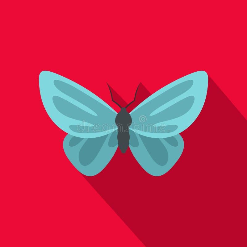 Icona insolita della farfalla, stile piano illustrazione vettoriale