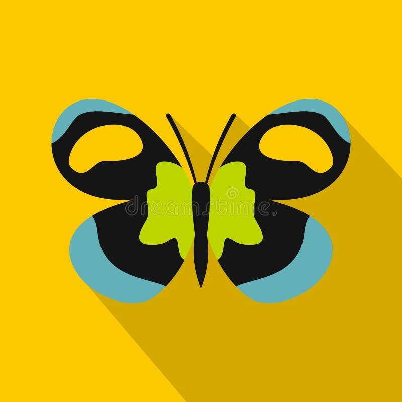 Icona insolita della farfalla, stile piano illustrazione di stock