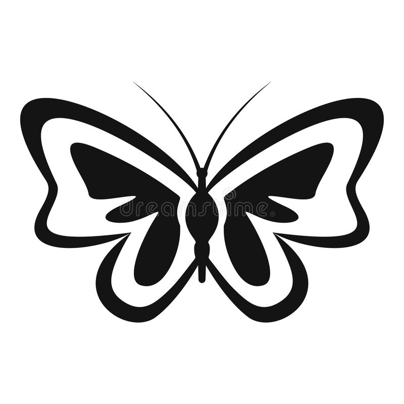 Icona insolita della farfalla, stile semplice illustrazione vettoriale