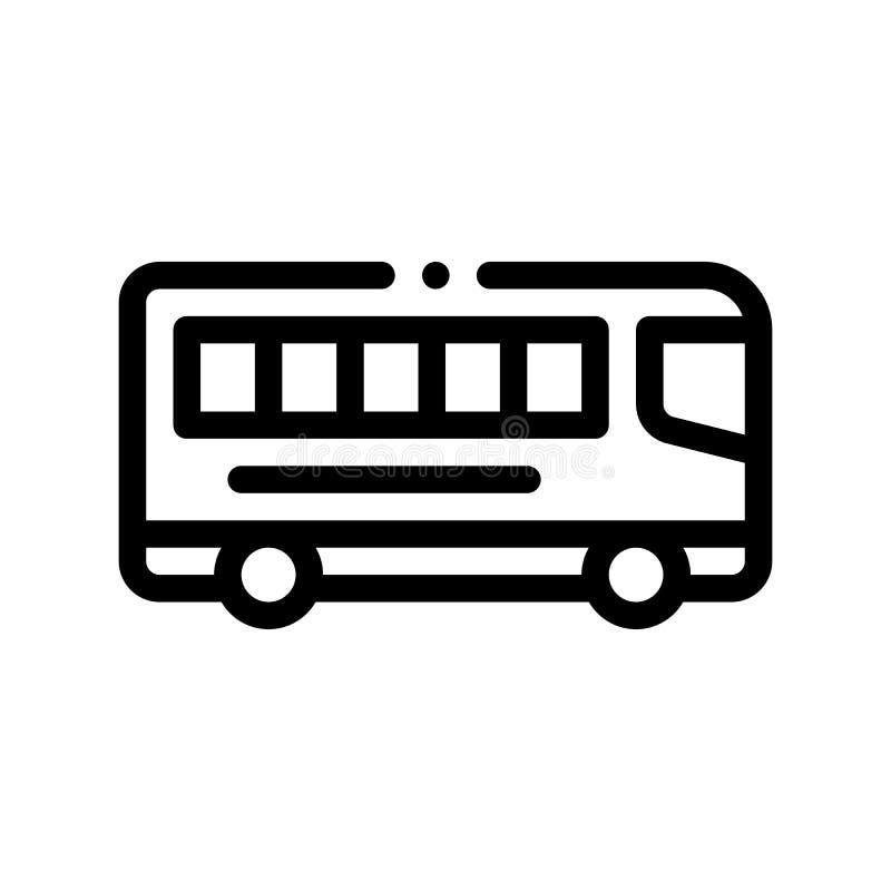 Icona interurbana del segno di vettore del bus di trasporto pubblico illustrazione di stock