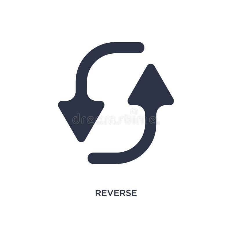 icona inversa su fondo bianco Illustrazione semplice dell'elemento dal concetto della geometria illustrazione di stock