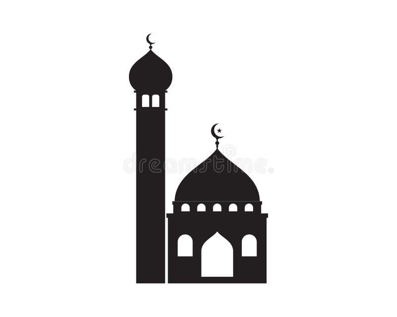 icona islamica di logo della moschea illustrazione vettoriale