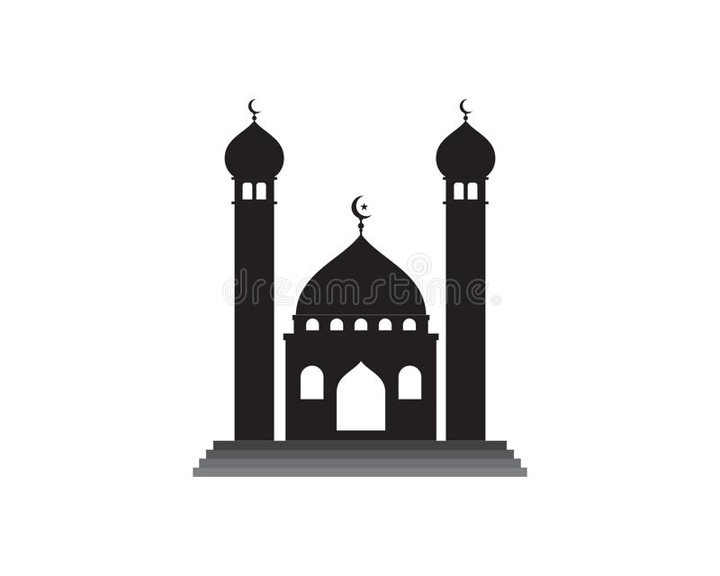 icona islamica di vettore di logo della moschea illustrazione vettoriale