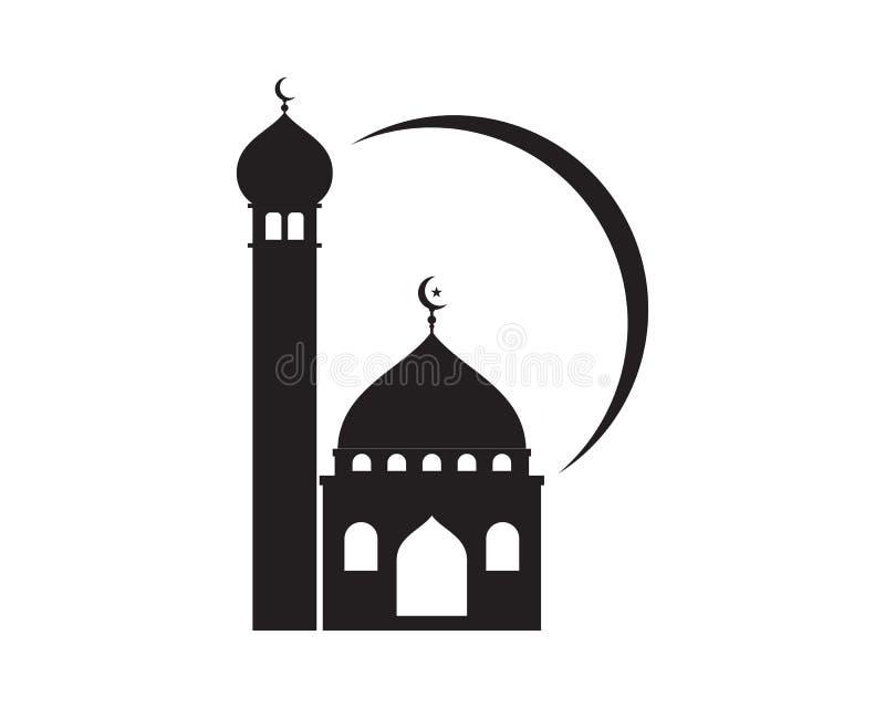 icona islamica di vettore di logo della moschea illustrazione di stock
