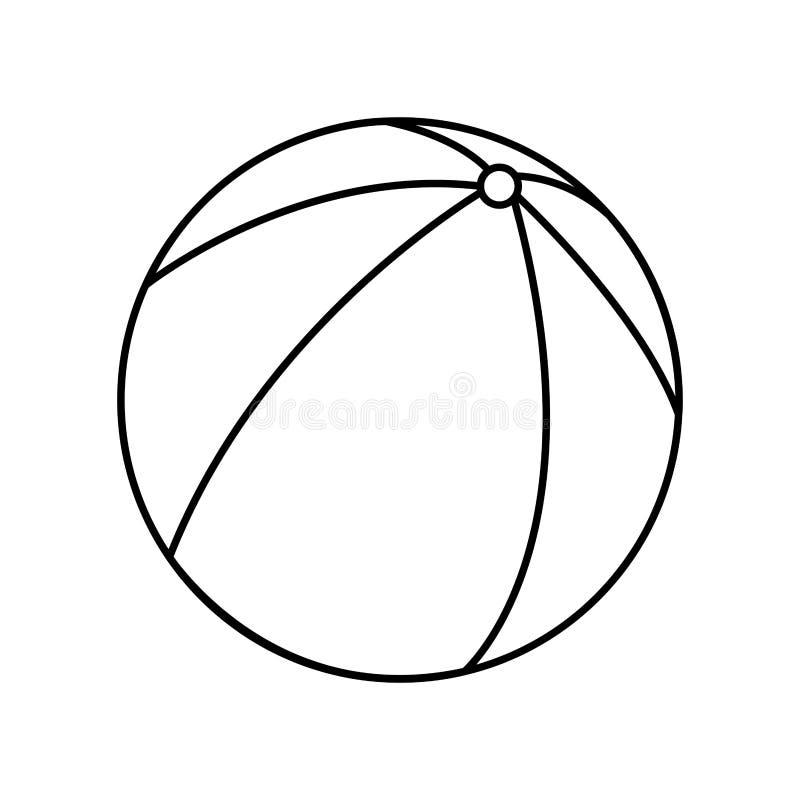 icona isolata aria del pallone della spiaggia illustrazione di stock