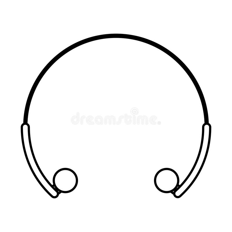 Icona isolata audio delle cuffie illustrazione di stock