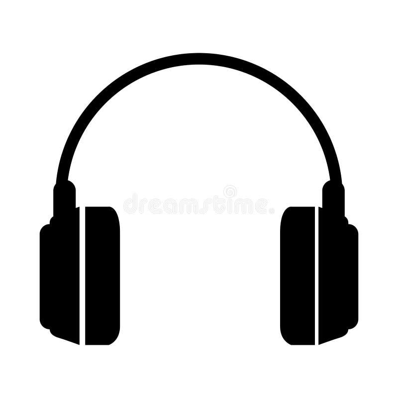 Icona isolata audio delle cuffie royalty illustrazione gratis
