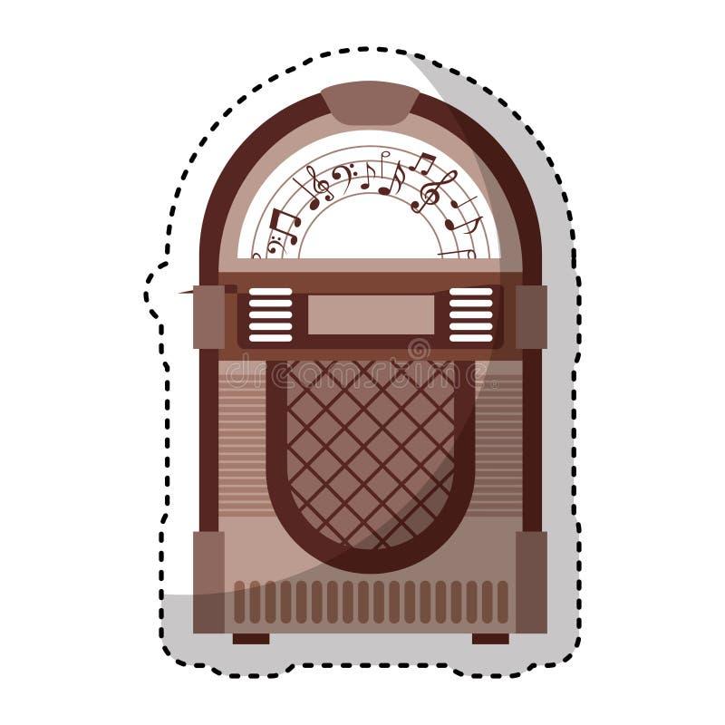 icona isolata audio di jukebox illustrazione vettoriale