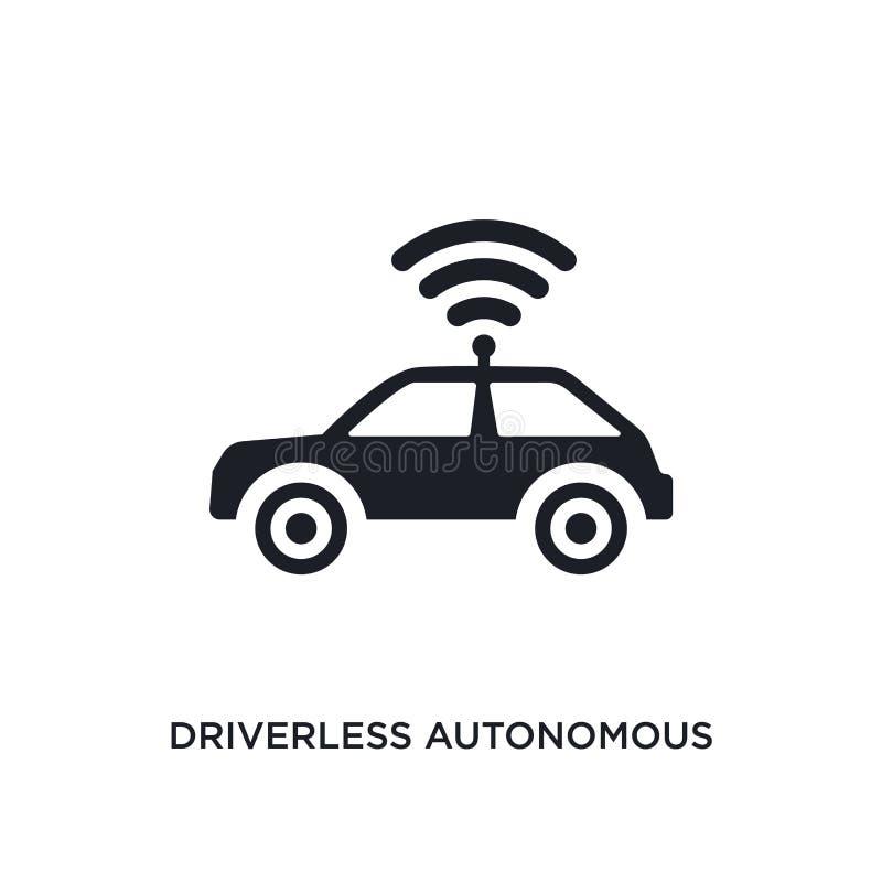 icona isolata automobile autonoma driverless illustrazione semplice dell'elemento dalle icone artificiali di concetto di intelleg illustrazione di stock