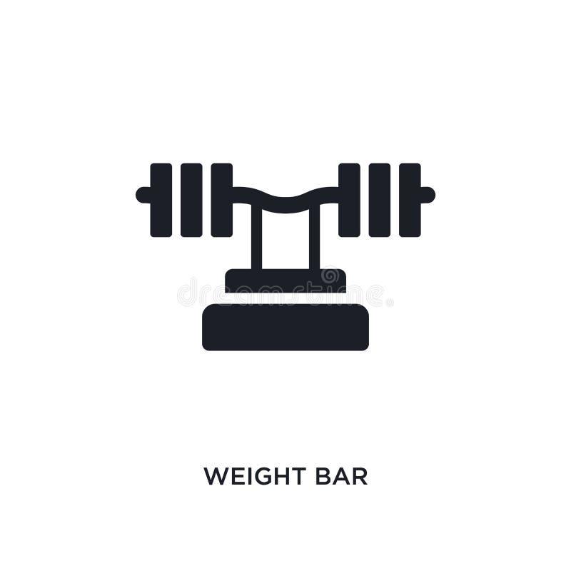 icona isolata barra del peso illustrazione semplice dell'elemento dalle icone di concetto di forma fisica e della palestra simbol royalty illustrazione gratis