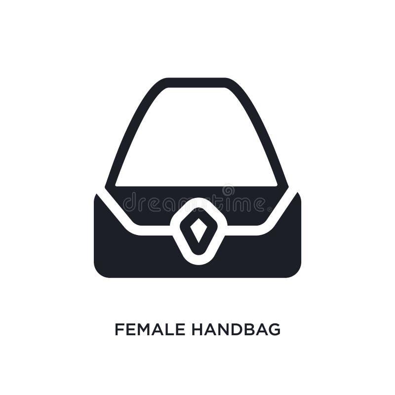 icona isolata borsa femminile illustrazione semplice dell'elemento dalle icone di concetto dell'abbigliamento della donna segno e illustrazione vettoriale