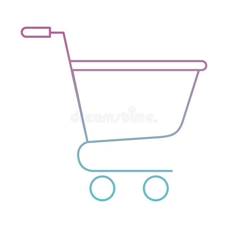 Icona isolata carrello illustrazione di stock