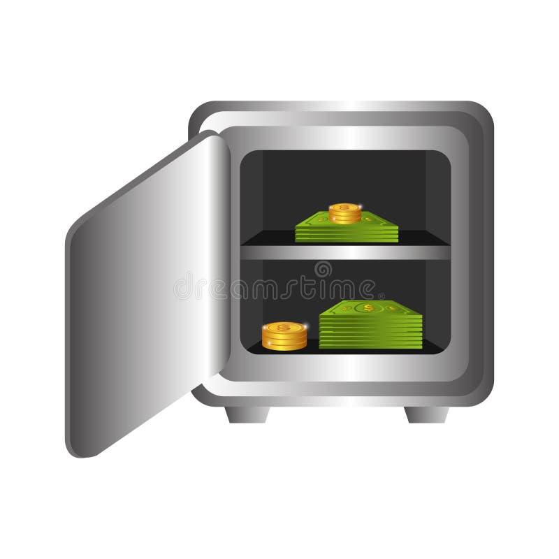 Icona isolata cassaforte pesante della scatola illustrazione vettoriale