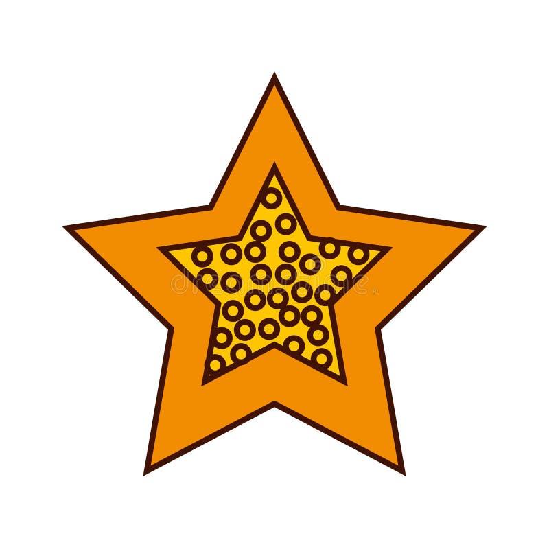 icona isolata decorativa della stella illustrazione vettoriale