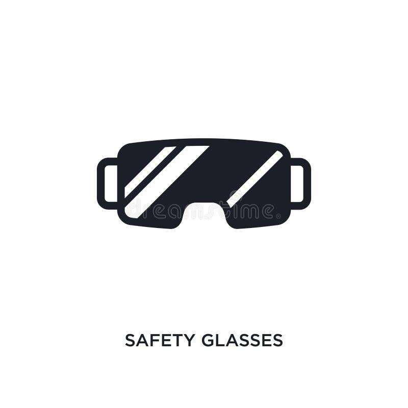 icona isolata degli occhiali di protezione illustrazione semplice dell'elemento dalle icone di concetto di inverno simbolo editab illustrazione di stock