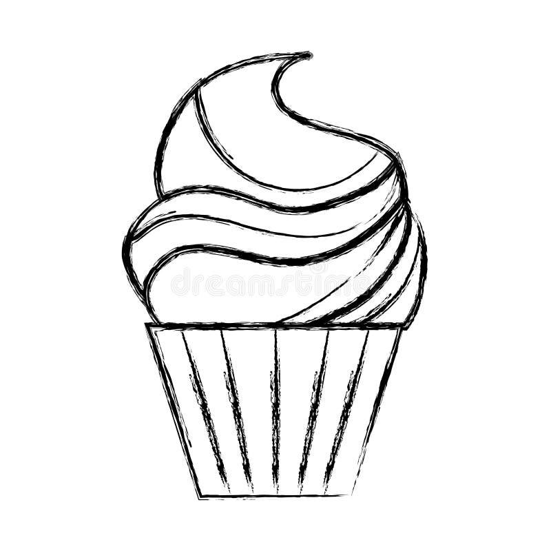 Icona isolata del bigné illustrazione di stock