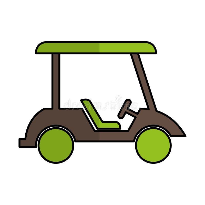 Icona isolata del carretto di golf illustrazione di stock