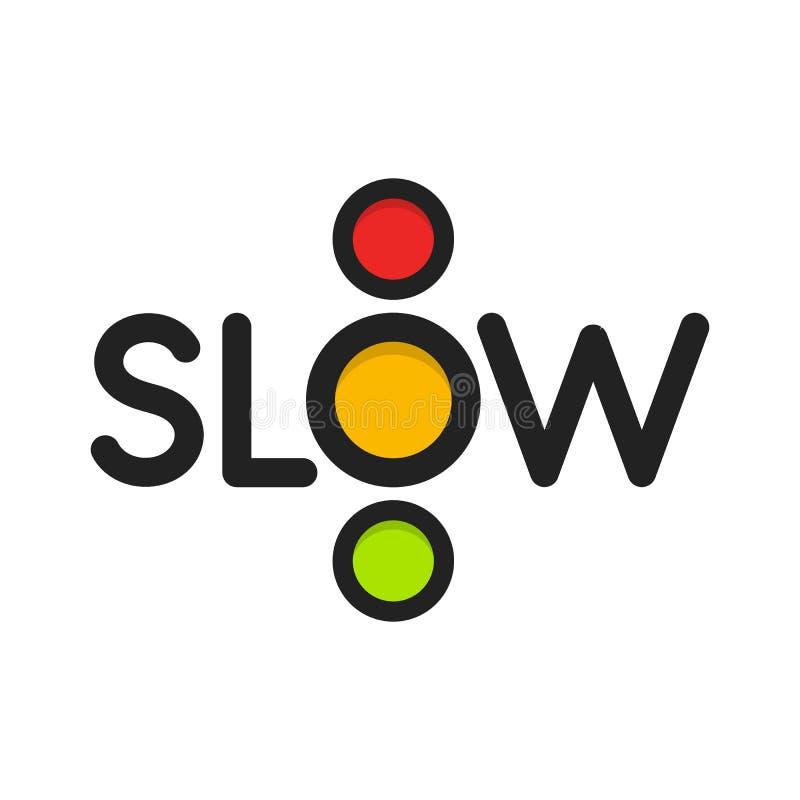 Icona isolata del semaforo Illustrazione di vettore delle luci gialle L'intersezione della strada, il segno di regolamento, codic royalty illustrazione gratis