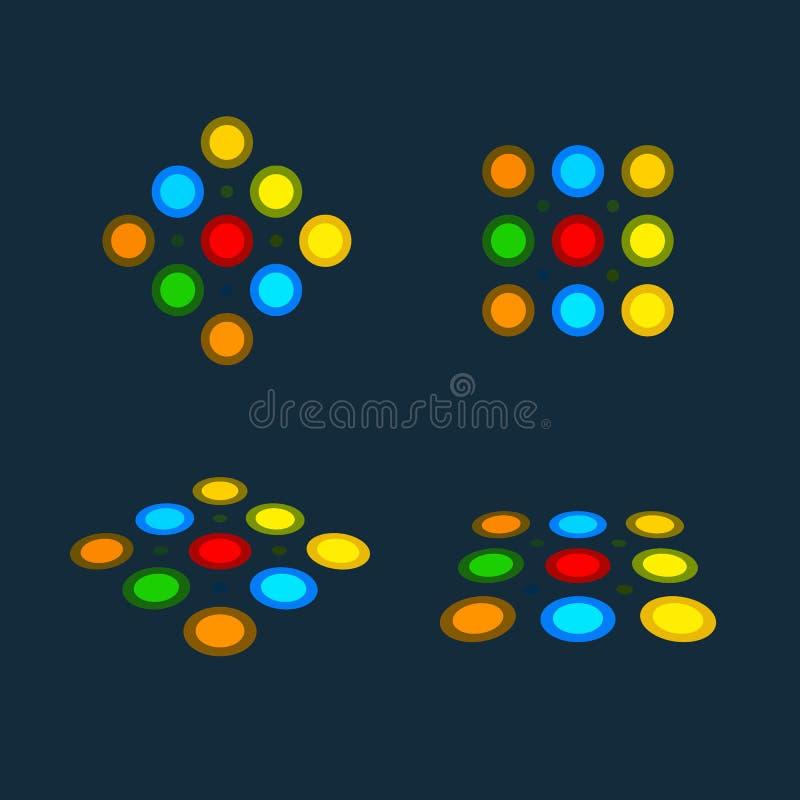 Icona isolata del semaforo Le luci rosse verdi, gialle, vector l'illustrazione sul fondo del cielo blu Intersezione della strada illustrazione vettoriale