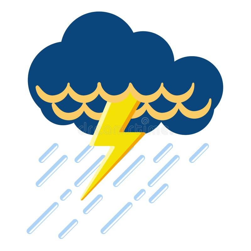 Download Icona Isolata Del Tempo Di Temporale Illustrazione Vettoriale - Illustrazione di previsione, annuvolamento: 117975056