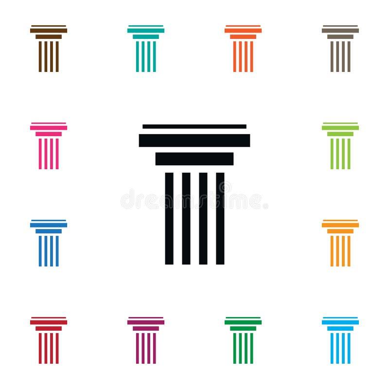 Icona isolata della colonna illustrazione di stock