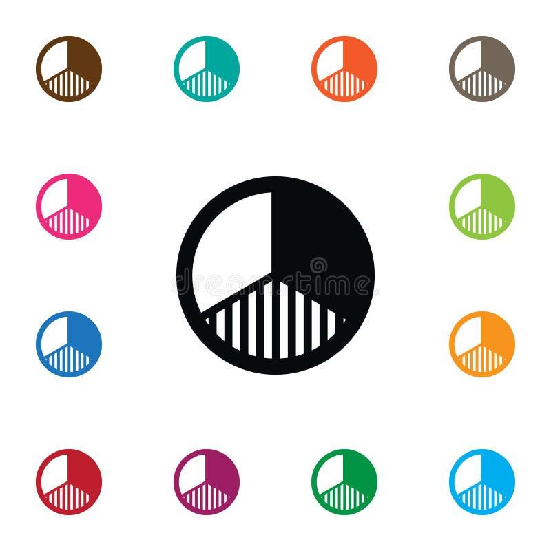 Icona isolata della fetta Riferisca che elemento di vettore può essere usato per il rapporto, la fetta, concetto di progetto del  illustrazione vettoriale