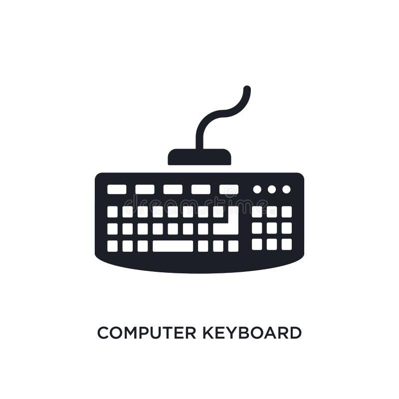 Icona isolata della tastiera di computer illustrazione semplice dell'elemento dalle ultime icone di concetto dei glyphicons tasti illustrazione vettoriale