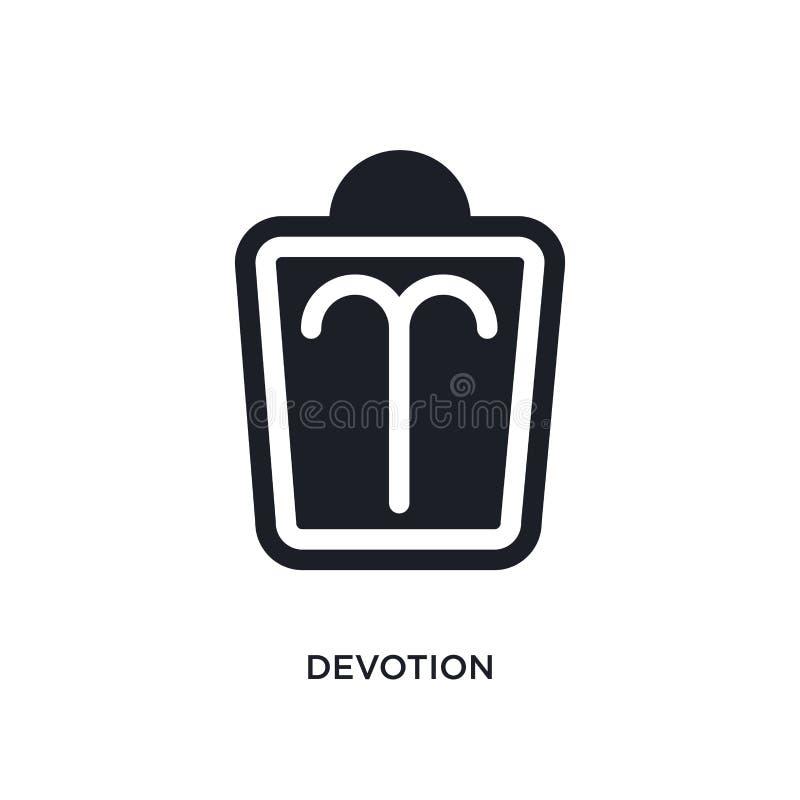 icona isolata devozione illustrazione semplice dell'elemento dalle icone di concetto dello zodiaco progettazione editabile di sim illustrazione vettoriale