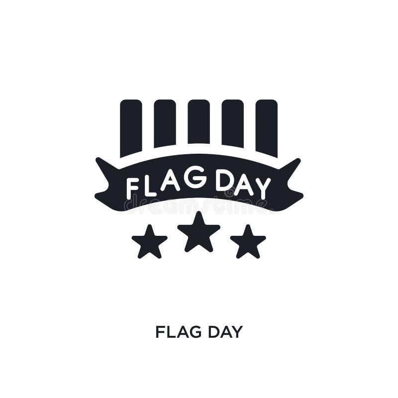 icona isolata di vettore di giorno di bandiera nera illustrazione semplice dell'elemento dalle icone di vettore di concetto degli illustrazione vettoriale