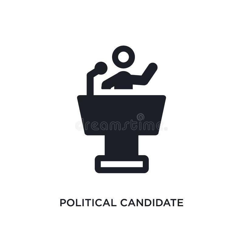 icona isolata discorso del candidato politico illustrazione semplice dell'elemento dalle icone politiche di concetto discorso del illustrazione di stock