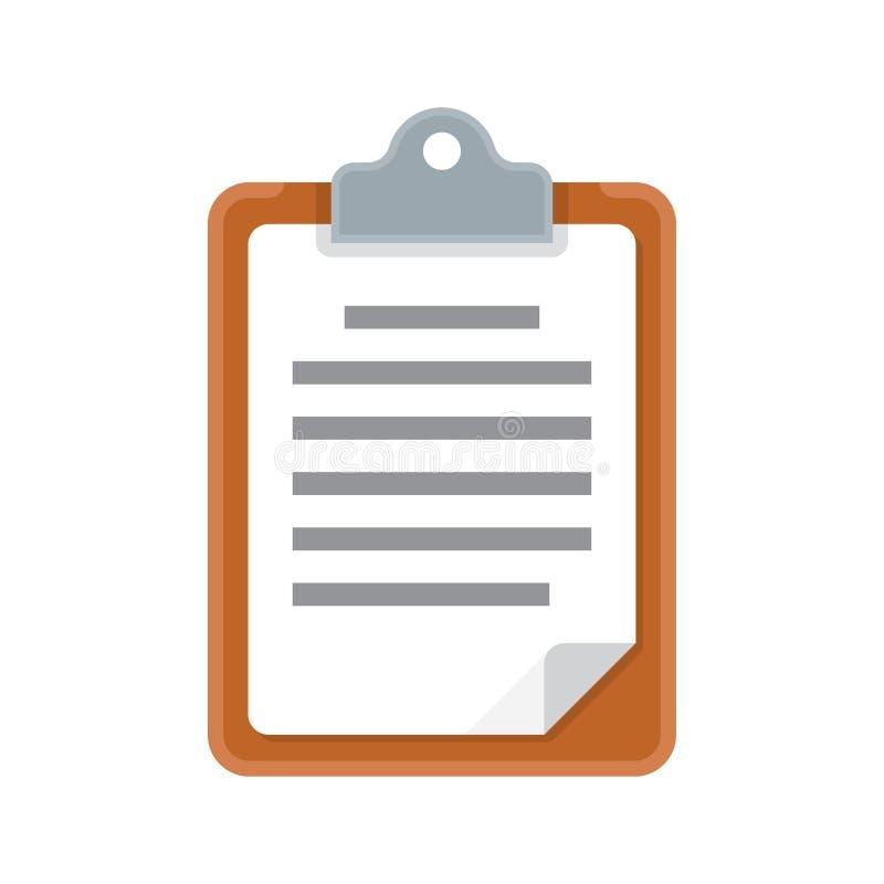 Icona isolata documento della lavagna per appunti illustrazione vettoriale