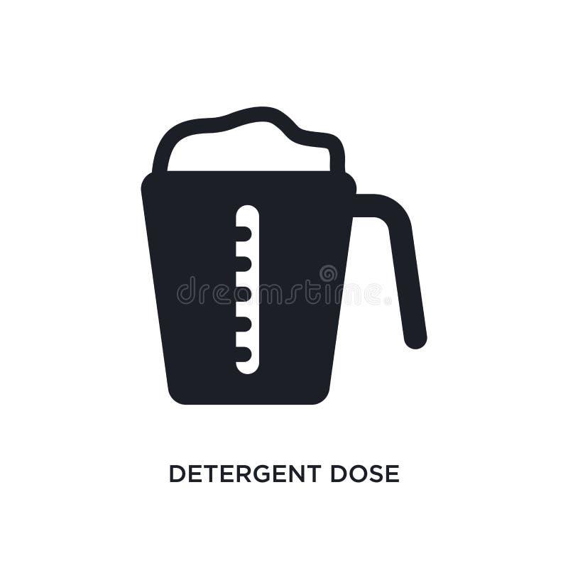 icona isolata dose detergente illustrazione semplice dell'elemento dalle icone di concetto di igiene simbolo editabile del segno  illustrazione vettoriale