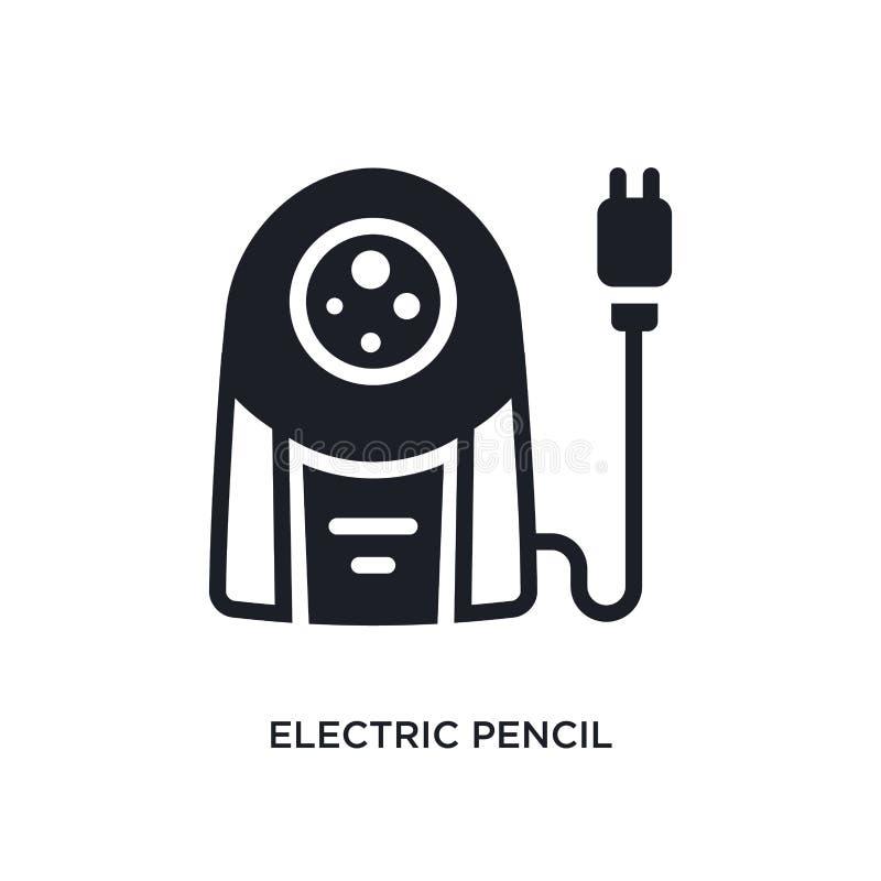 icona isolata elettrica del temperamatite illustrazione semplice dell'elemento dalle icone di concetto degli apparecchi elettroni illustrazione vettoriale