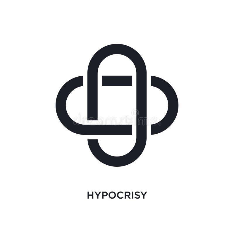 icona isolata ipocrisia illustrazione semplice dell'elemento dalle icone di concetto dello zodiaco progettazione editabile di sim royalty illustrazione gratis