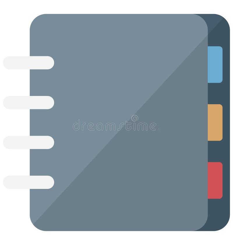 Icona isolata isometrica di vettore del libro di indirizzo che può essere modificata o pubblicare facilmente royalty illustrazione gratis
